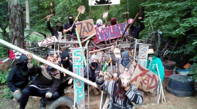 Miłość, solidarność i wdzięczność! – Komunikat z Hambacher Forest do ZAD NDDL [NIEMCY]