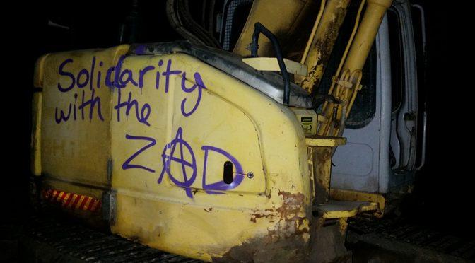 Solidarnościowa akcja bezpośrednia dedykowana La ZAD [USA]