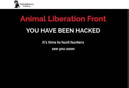Strona internetowa polowań na Safari zhakowana!