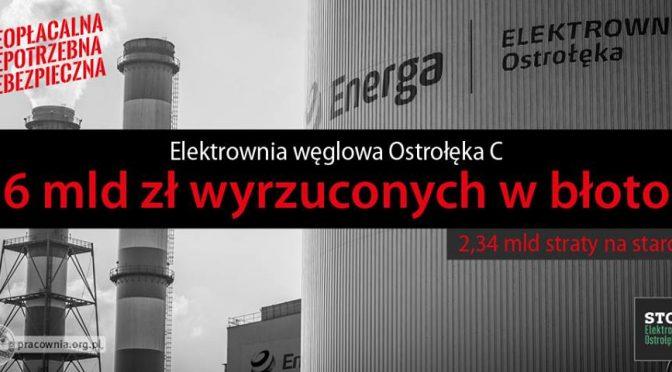 NIE dla elektrowni węglowej Ostrołęka C